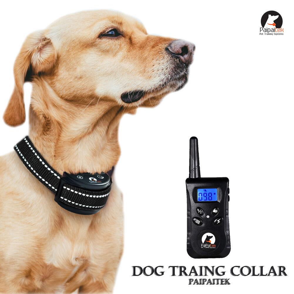 PaiPaitek Reflective 1500 Feet Remote Pet Dog Training Collar Dog No Bark Collar
