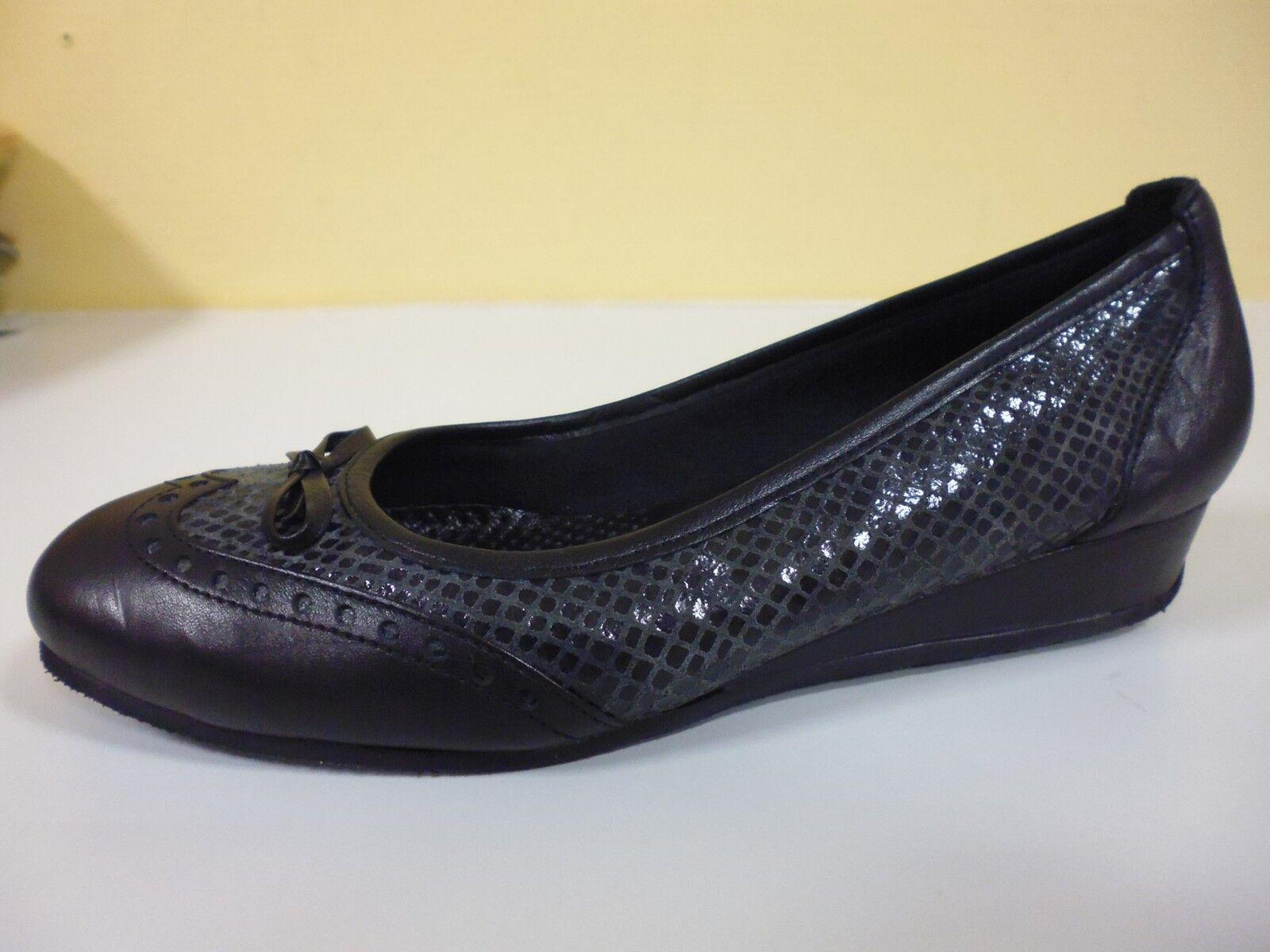 Chaussures Pantoufles Ballerines Sandale cuir Lady GRACIA taille 41 (7,5) W G