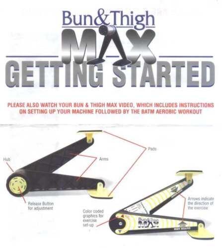 Bun /& Thigh Max l/'Original de la TV problemzonentrainig au format Maniable et vos