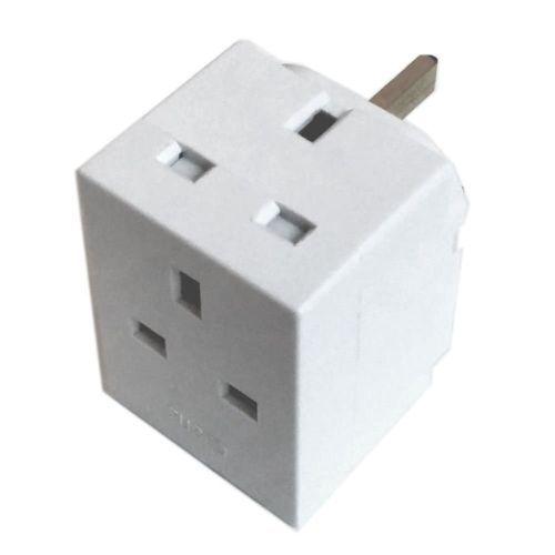 2 Way 3 Pin Adaptor Converter 13 Amp Double Socket Household Multi ...