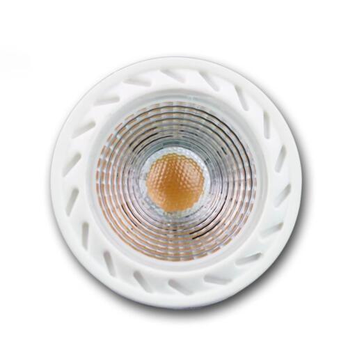 5 x gu10 Lampadina LED COB 7w bianco caldo 500lm Riflettore Faretto Lampada Pera