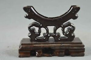 Collectable-China-Handwork-Old-Boxwood-Carve-Flower-Rattan-Souvenir-Shelf-Statue