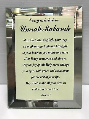 Islamic Umrah Mubarak Gift With Stand Blue | eBay