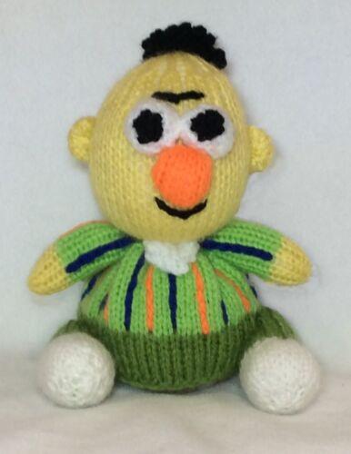 15 cms Sesame Street toy KNITTING PATTERN Bert inspired choc orange cover