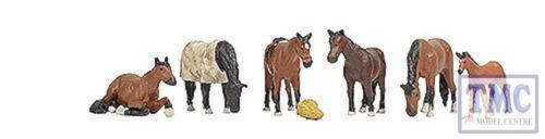 36-080 OO Gauge Scenecraft Horses