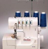 American Home Ah100 Serger / Overlock 2/3/4 Thread Rolled Hem