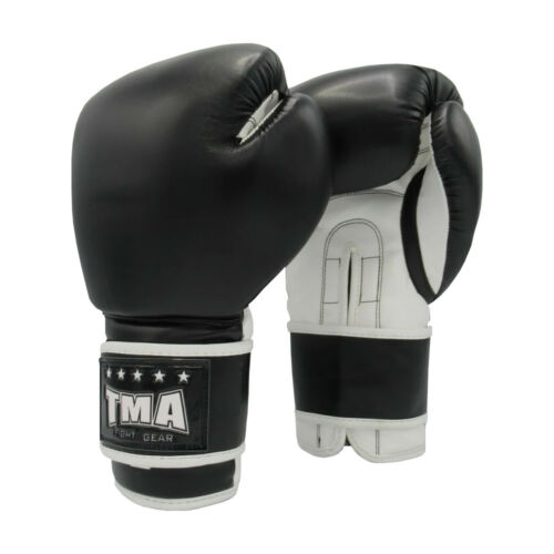TMA Pro Style Black Training Boxing Sparring Fighting Fitness Gloves