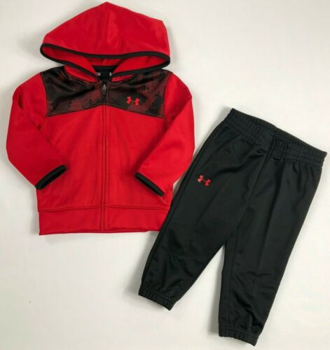 Baby Boy/'s Infant Under Armour Full Zip Hoodie and Athletic Pants 2 Piece Set