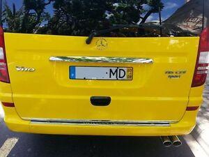 mercedes benz vito viano w639 03 15 chrome rear trim strip. Black Bedroom Furniture Sets. Home Design Ideas