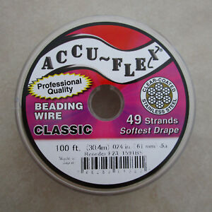 100-039-beading-wire-Accuflex-clear-over-steel-49-strand-024-inch
