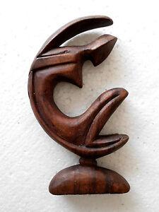 Abstracto-Madera-Marron-Mujer-en-la-luna-Bali-30-cm-RW53E