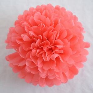 Coral Color Tissue Paper Pompom Party Handmade Pompoms Ebay