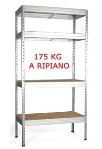 Scaffali In Legno Kit.Scaffale Kit Rinforzato In Metallo E Legno 80 X 40 X H 180 Cm