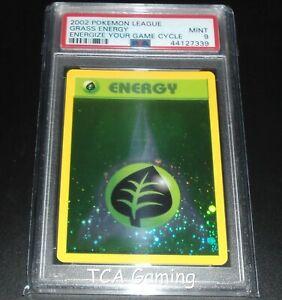PSA-9-MINT-Grass-Energy-WOTC-HOLO-PROMO-2002-League-Pokemon-Card