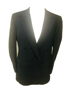 Chester Barrie Austin Reed 42 Chest Vintage Blue Striped Suit Double Breasted Ebay