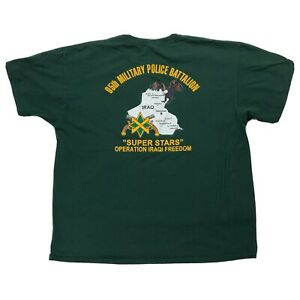 95th-Military-Police-Battalion-Shirt-XL-Operation-Iraqi-Freedom-Dark-Green-Tee