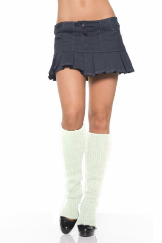Women/'s Warm White Knit Leg Warmers by Leg Avenue