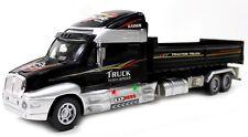 "20"" Remote Control RC Lifelike Semi Dump Truck Trailer Xmas Toy LED Black T2E"