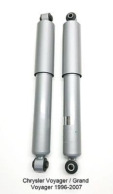 Arrière amortisseur x 2 pour chrysler voyager 1996-2000 avec standard suspension