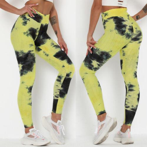 Women Anti Cellulite Leggings Workout Push Up Yoga Pants Tik Tok Fitness Trouser