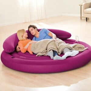 Intex Ultra Daybed Lounge Inflatable Mattress Round Airbed Removable ...