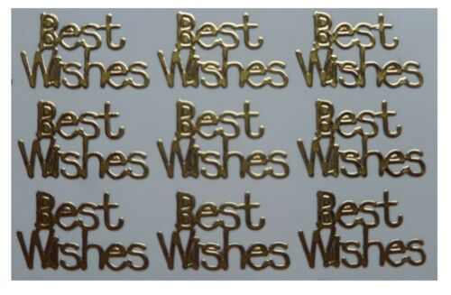 Card Making Gold or Silver BEST WISHES Peel off Stickers Sentimentsx 56
