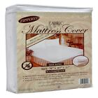 Waterproof Zippered Fabric Mattress Protector Bed Bug Allergy Dust Mite Cover