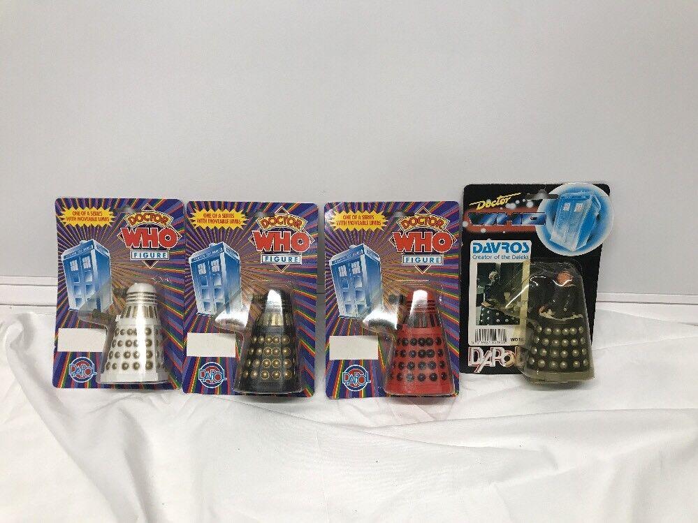 Dapol Doctor Who Davros Figura de Acción 1987 & Daleks Lote de 4 figuras  mira