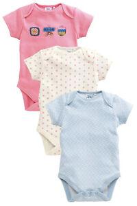 Contemplative Вnwt Next Babygrows Playsuits • Blue Flower Bodysuits 3pk • 100% Cotton • 9-12 M Clothing, Shoes & Accessories