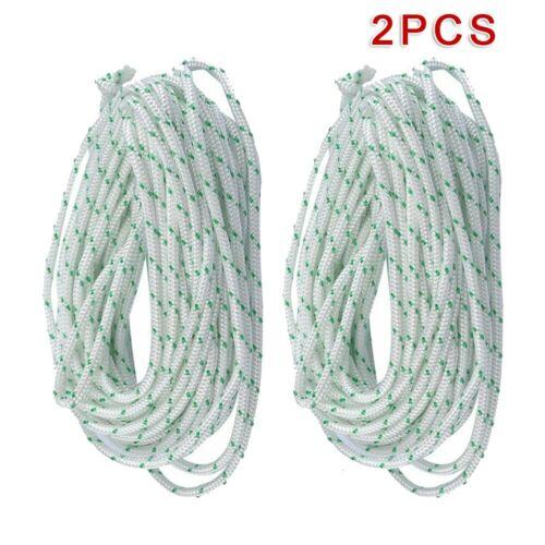 Rope Lawn Mower Part Heavy Duty New 2pcs 4M Recoil Starter Pull Start Cord