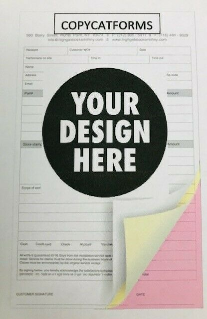 200- 3-part NCR Carbonless Forms-Your Design