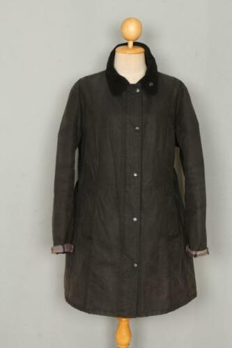 Womens BARBOUR Belsay Waxed Jacket Black Size USA