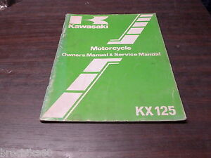 Manuel Revue Technique D Atelier Kawasaki Kx 125 125kx B2 1983 -> Service Manual Jf07nirs-07224857-583927575