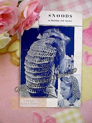 Vintage 1940s Knitting Pattern Lady's Snood & Crochet ...