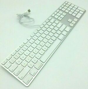 apple slim usb wired keyboard a1243 mb110ll a aluminum standard full size gift ebay. Black Bedroom Furniture Sets. Home Design Ideas
