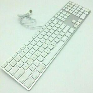 apple slim usb wired keyboard a1243 mb110ll a aluminum standard full size gift ebay. Black Bedroom Furniture Sets. Home Design Ideas