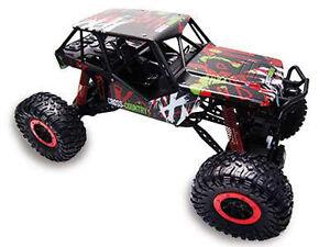 RC-Rock-Crawler-034-Crazy-Crawler-034-M-1-10-4WD-proportionales-Gas-41cm-inkl-Akku-rot