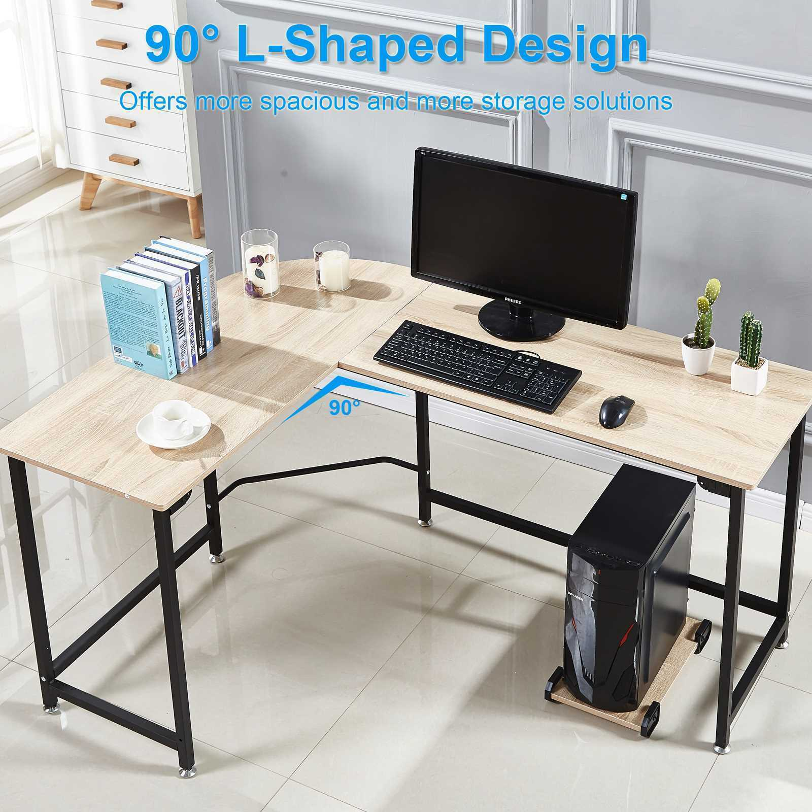 - L-Shaped Corner Desk Computer Gaming Laptop Table Workstation Home