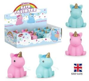 Bath Toys 2 x UNICORN BATH SQUIRTER Squirt Pony Toy Kids Baby Shower Water Play Favor Gift