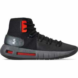 0242fa64c359 Men s Under Armour HOVR Havoc Mid Basketball Black Graphite Black ...