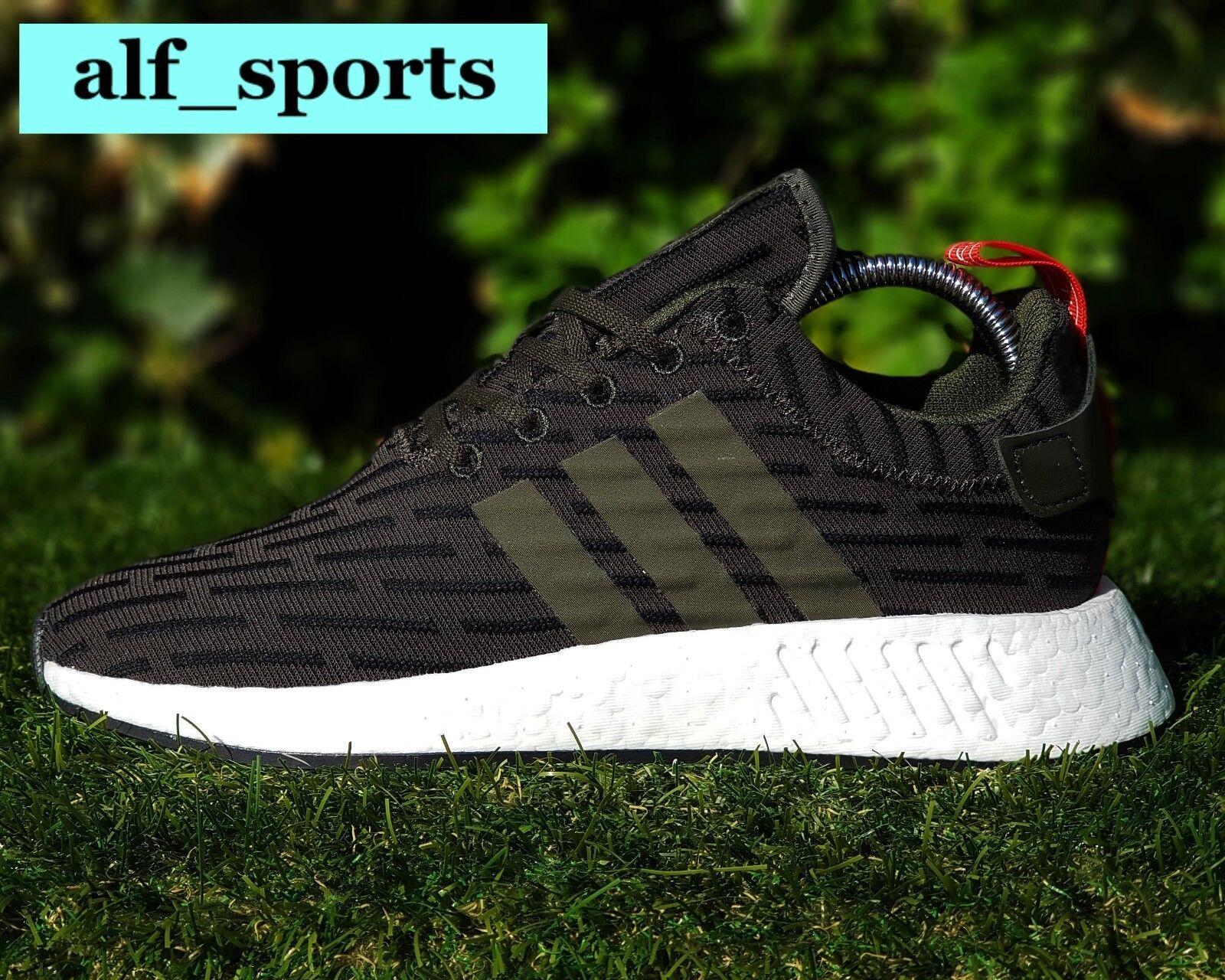BNWB & Genuine Adidas Originals ® NMD NMD NMD R2 PK Primeknit Khaki Trainers UK Size 9.5 0789e9