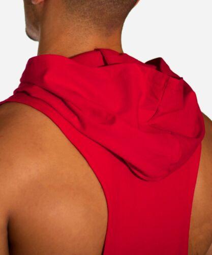 Men Sleeveless Hoodie Training Gym Hooded Tank Top T Shirt Workout Bodybuilding