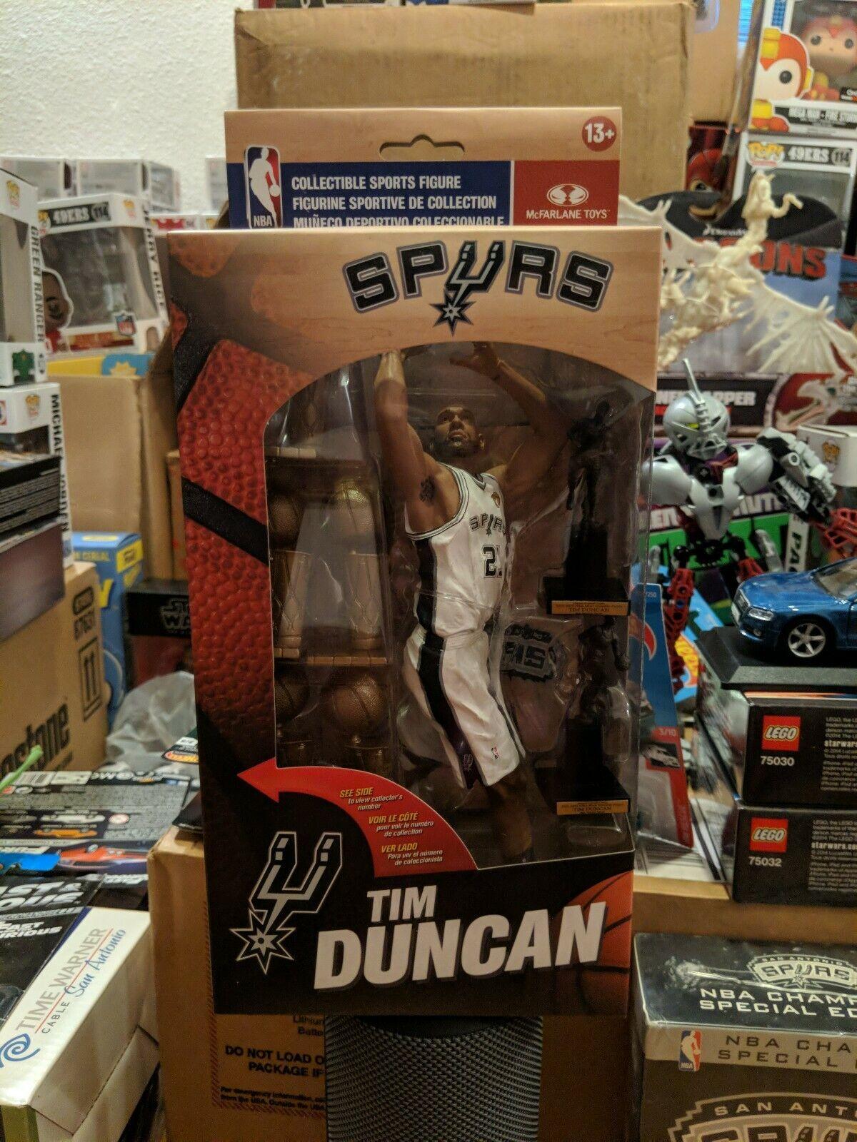 Mcfarlane NBA 26 Tim Duncan San Antonio Spurs caja de coleccionista exclusiva 569 6000
