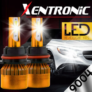 XENTRONIC-LED-HID-Headlight-kit-9004-HB1-White-for-1989-1994-Plymouth-Sundance