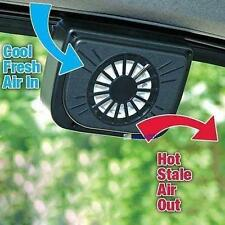 Solar Power Car Window Fan Auto Ventilator Cooling Vehicle Air Vent Portable FB