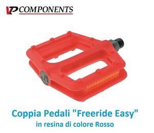 0653-Coppia-Pedali-VP-Freeride-Easy-Rossi-per-Bici-26-27-5-29-MTB-Mountain-Bike