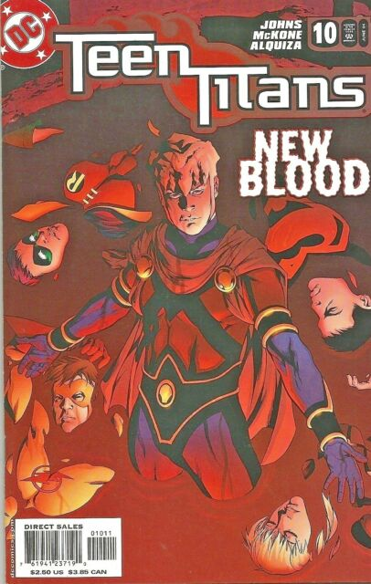 TEEN TITANS #10  TV  BROTHER BLOOD  GEOFF JOHNS  DC  2004  NICE!!!