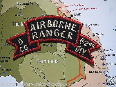 PATCH RANGER UNIT 75TH INFANTRY - Co.D  AIRBORNE 82 DIV DIV LONG RANGER PATROL