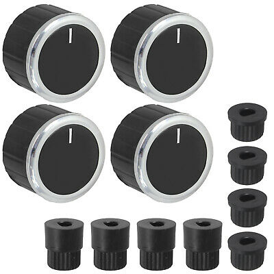Spares2go Control Knobs//Dials for Indesit Oven Cooker /& Hob Pack of 3 + Adaptors, Silver