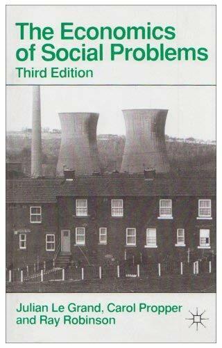 Economics Von Social Probleme Taschenbuch Julian Le Grand